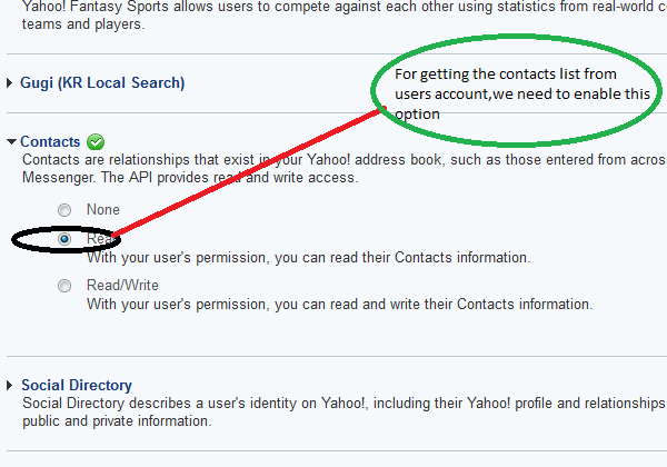 Get the contacts list from Yahoo Account | prakashmca007